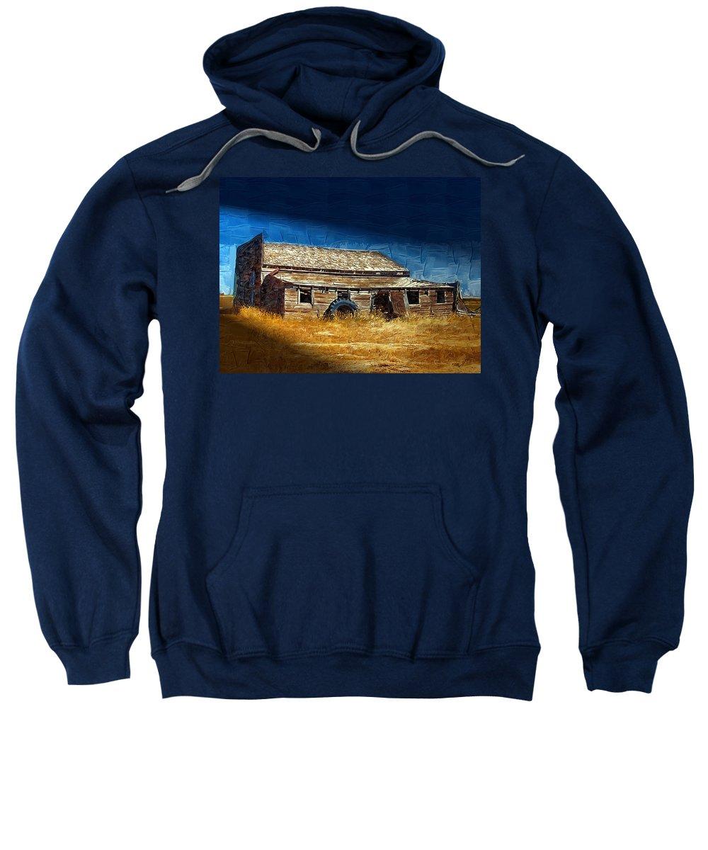 Window Sweatshirt featuring the photograph Night Shift by Susan Kinney