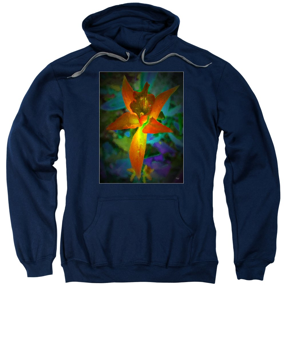 Floral Sweatshirt featuring the digital art Nightgown Floral by Edier C