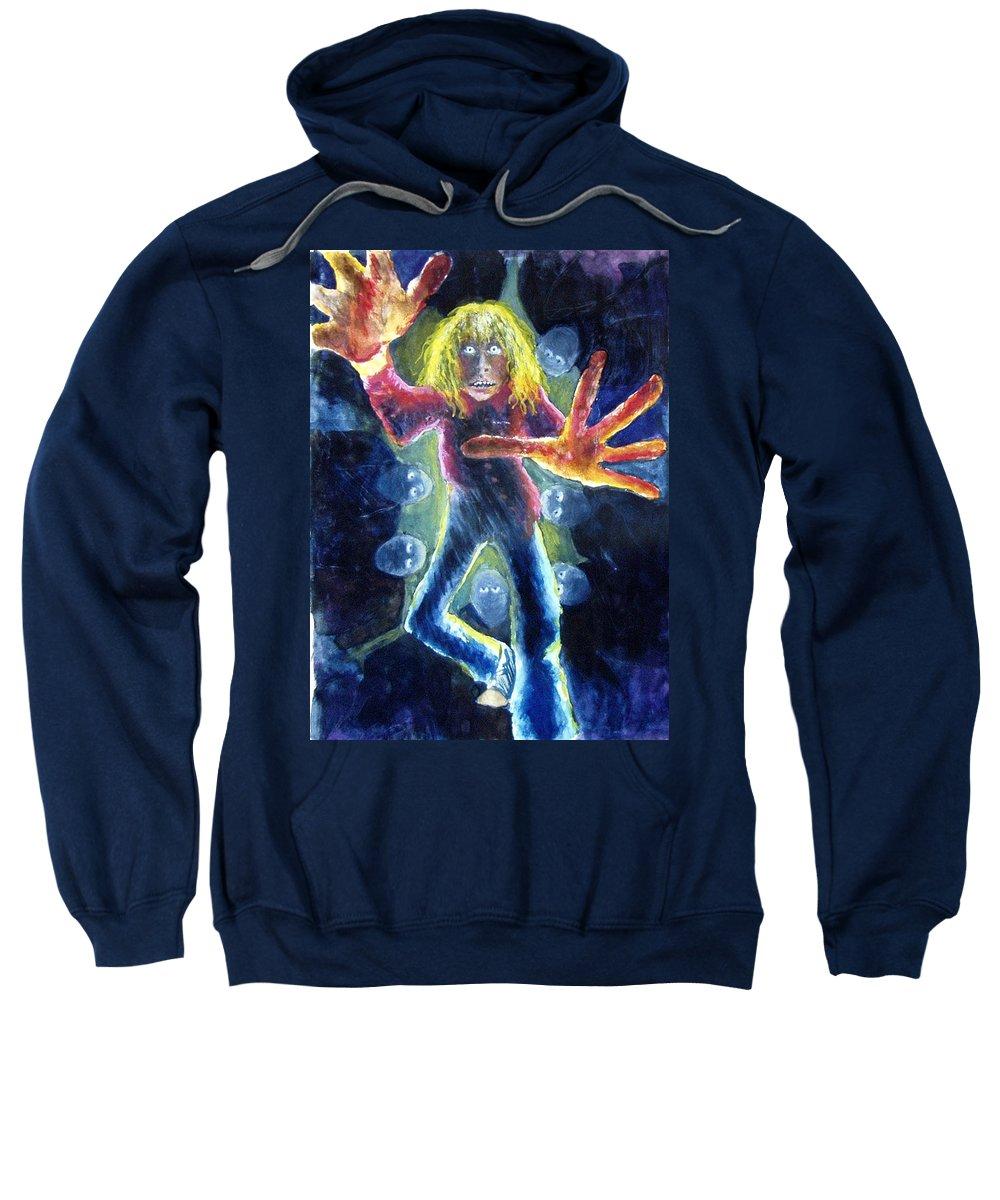 Nightmare Sweatshirt featuring the painting Nightmare by Nancy Mueller
