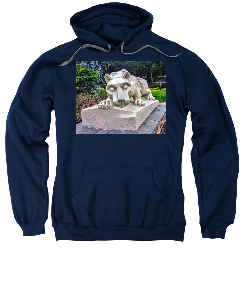 College Sweatshirt featuring the photograph Nittany Lion by Paul Kercher