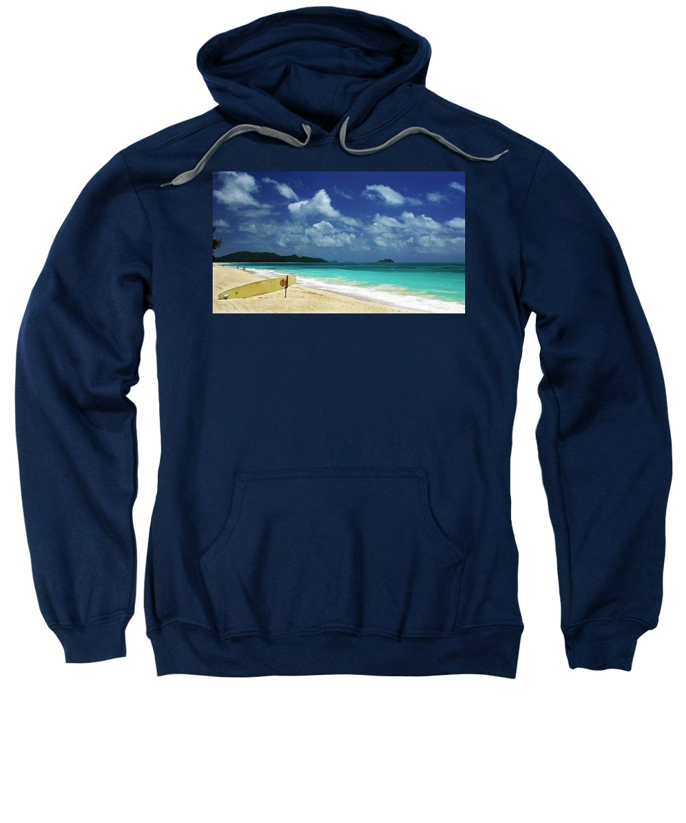 Scenic Sweatshirt featuring the photograph No Surf Today by Guy Shultz