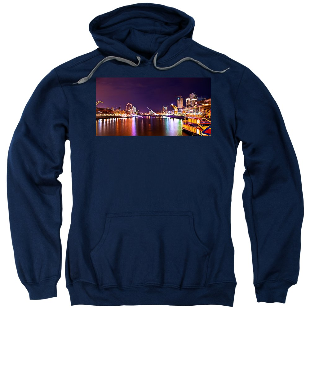 Buenos Sweatshirt featuring the photograph Nothing But Lights by Francisco Colon