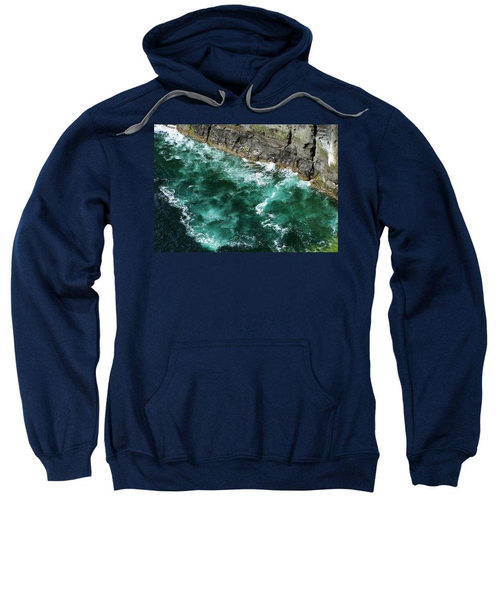 Irish Sweatshirt featuring the photograph Nowhere To Go Cliffs Of Moher Ireland by Teresa Mucha