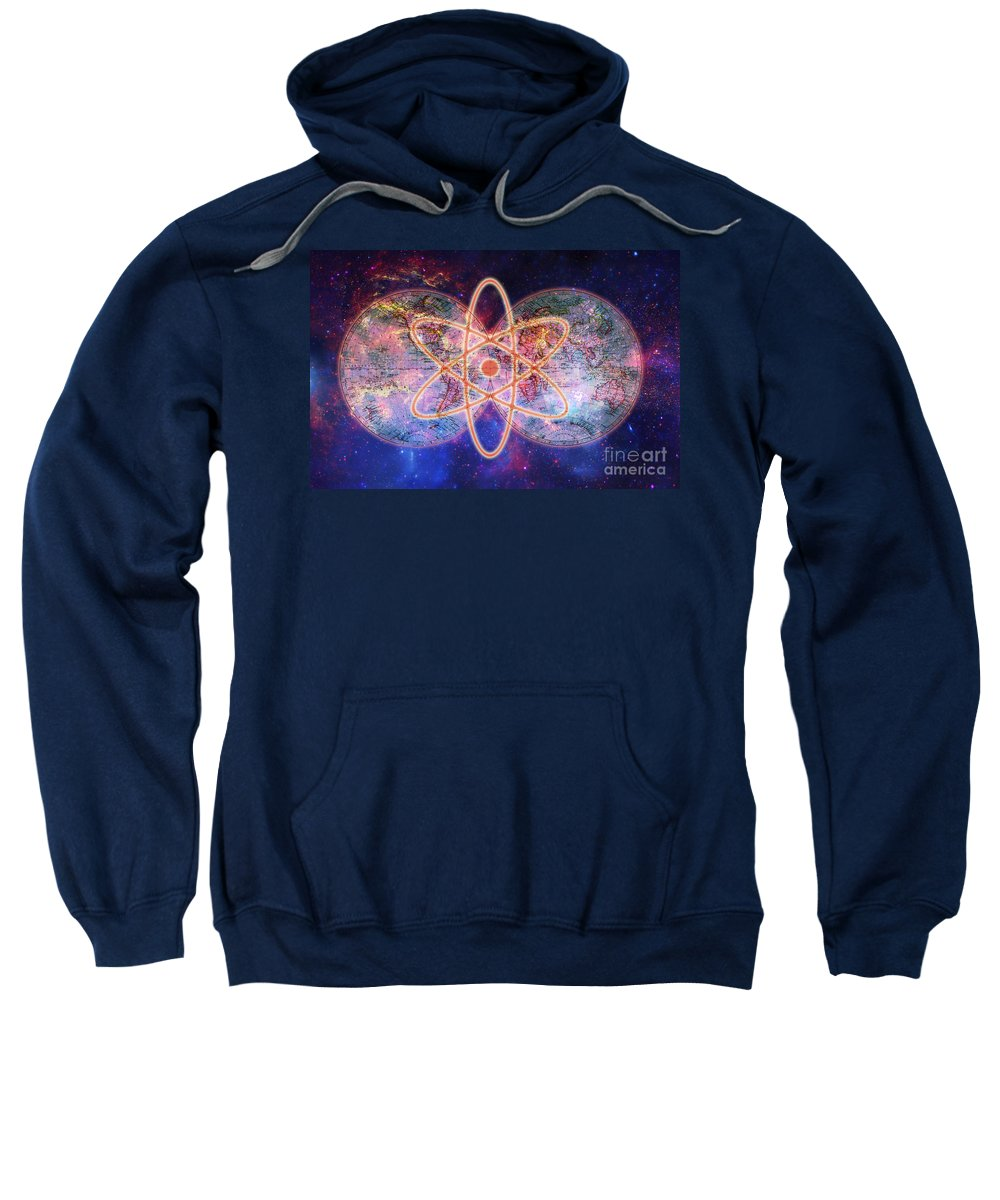 Earth Sweatshirt featuring the photograph Nuclear World by George Mattei