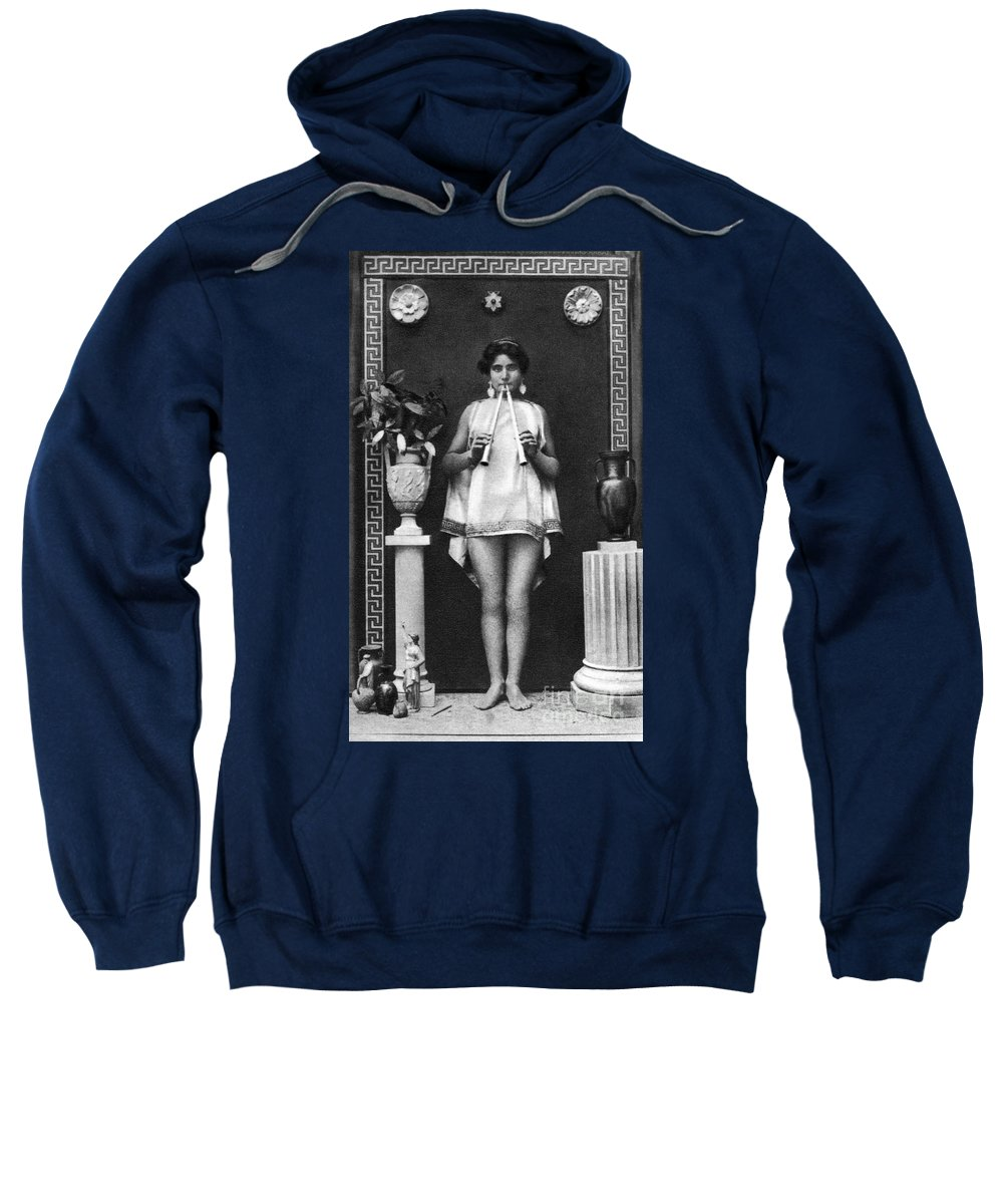 Sweatshirt featuring the painting Nude As Ancient Musician by Granger