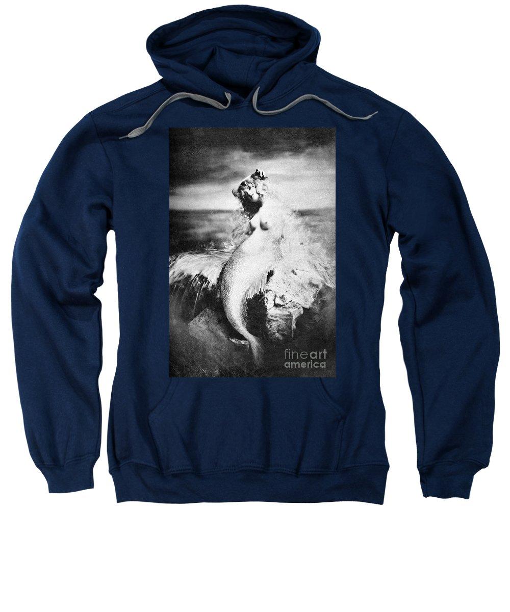 Sweatshirt featuring the painting Nude As Mermaid, 1898 by Granger