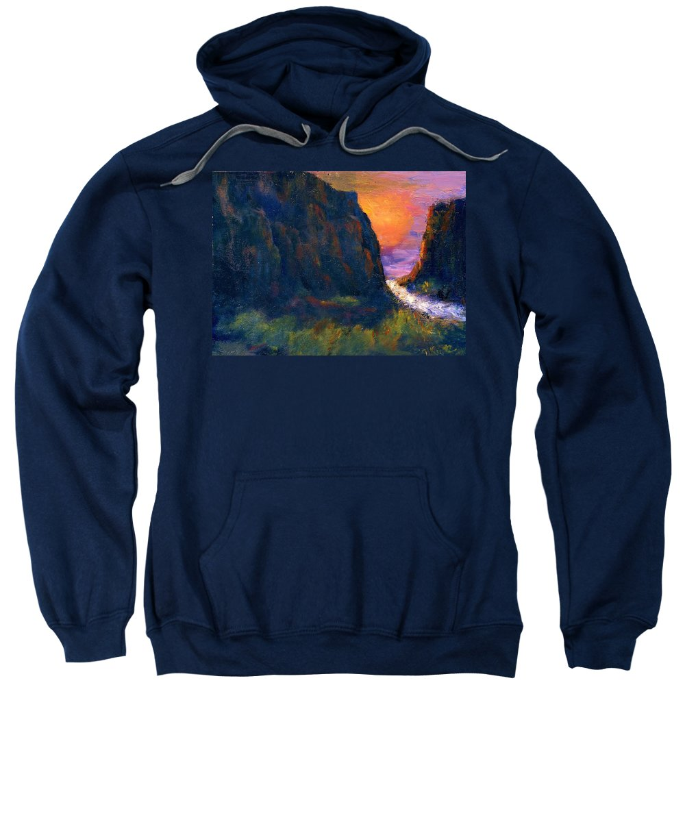 Impressionistic Sweatshirt featuring the painting Oak Creek Canyon by Gail Kirtz