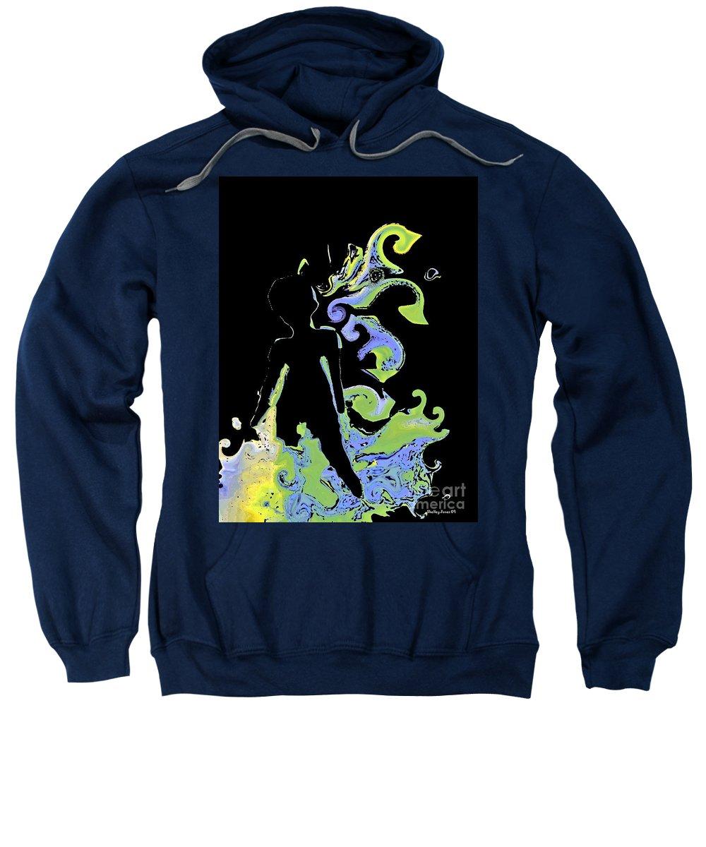 Ocean Sweatshirt featuring the digital art Ocean by Shelley Jones