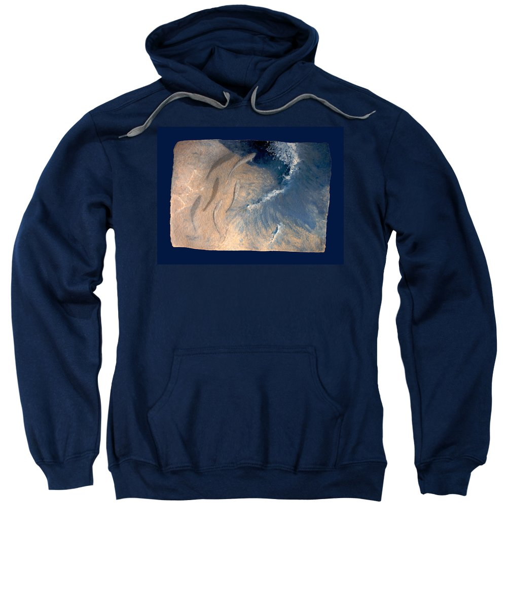 Seascape Sweatshirt featuring the painting Ocean by Steve Karol