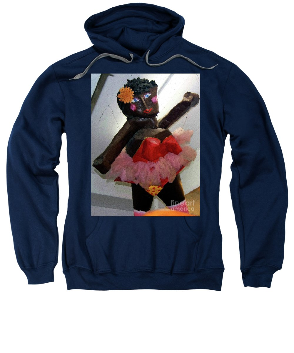 Paper Mache Sweatshirt featuring the photograph Oh Baby by Debbi Granruth