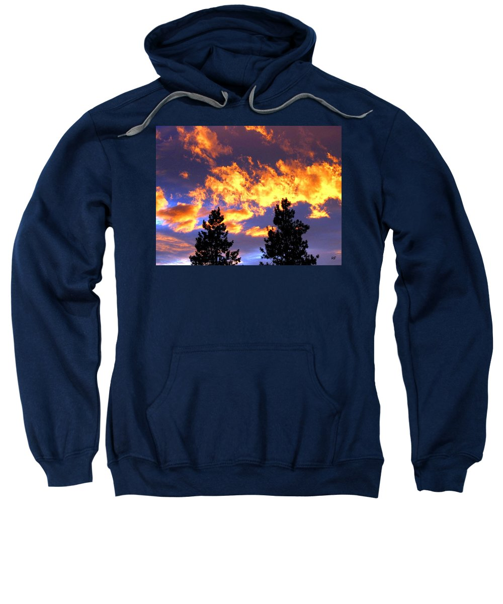 Sunset Sweatshirt featuring the photograph Okanagan Sunset by Will Borden