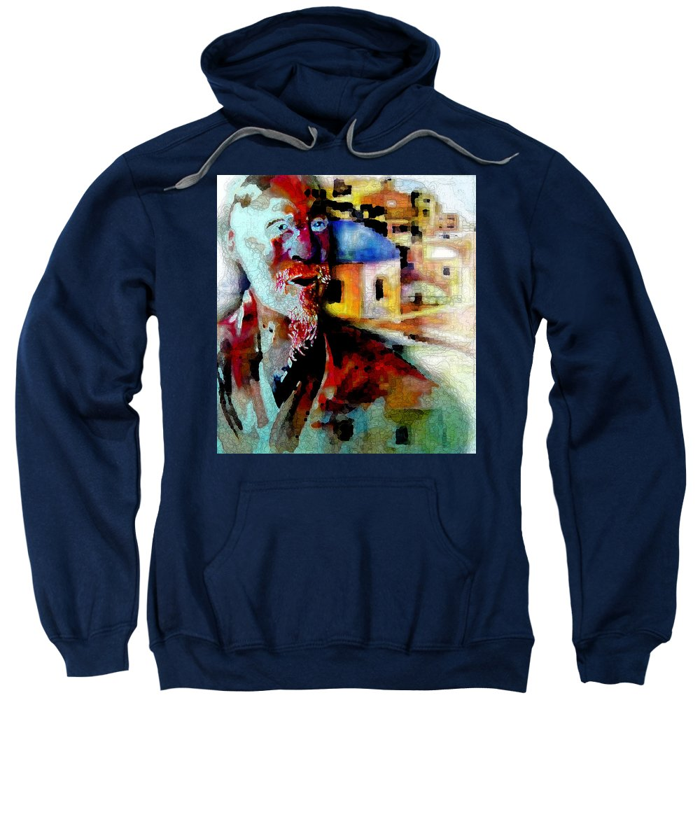 Old Consciousness Sweatshirt featuring the digital art Old Consciousness by Tony Macelli