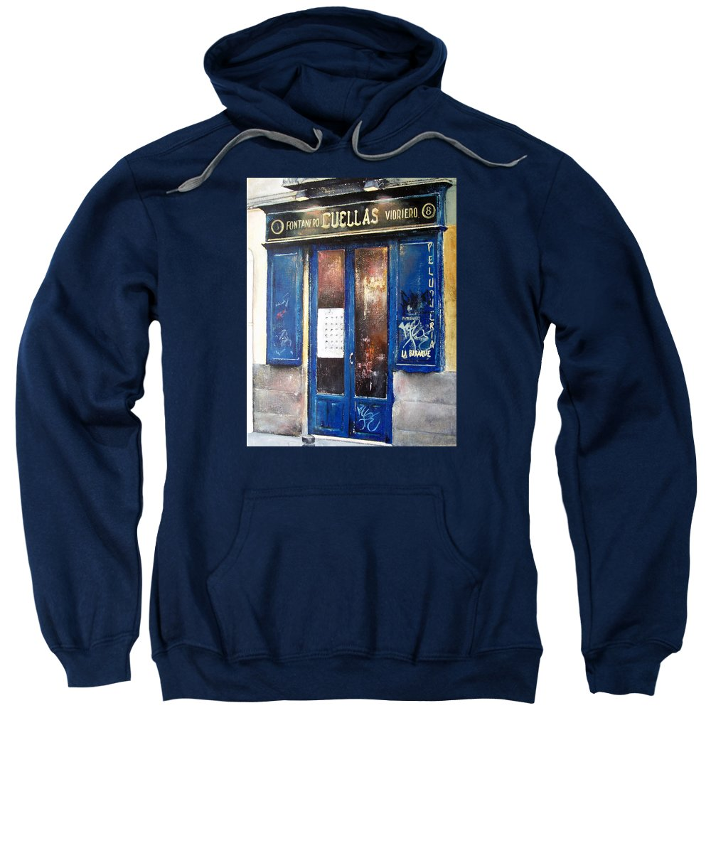 Old Sweatshirt featuring the painting Old Plumbing-madrid by Tomas Castano