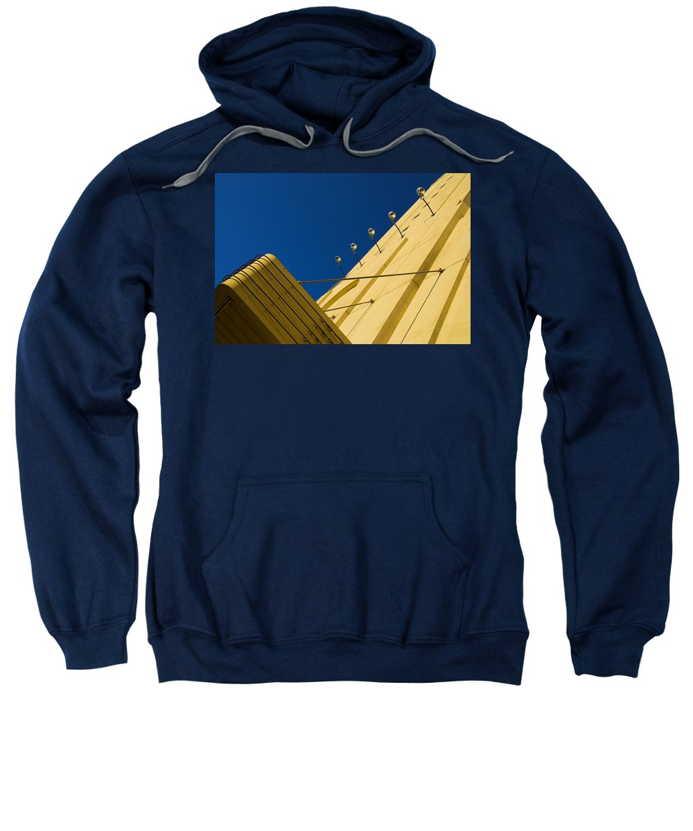 Electric Sweatshirt featuring the photograph Old School Vegas by Skip Hunt