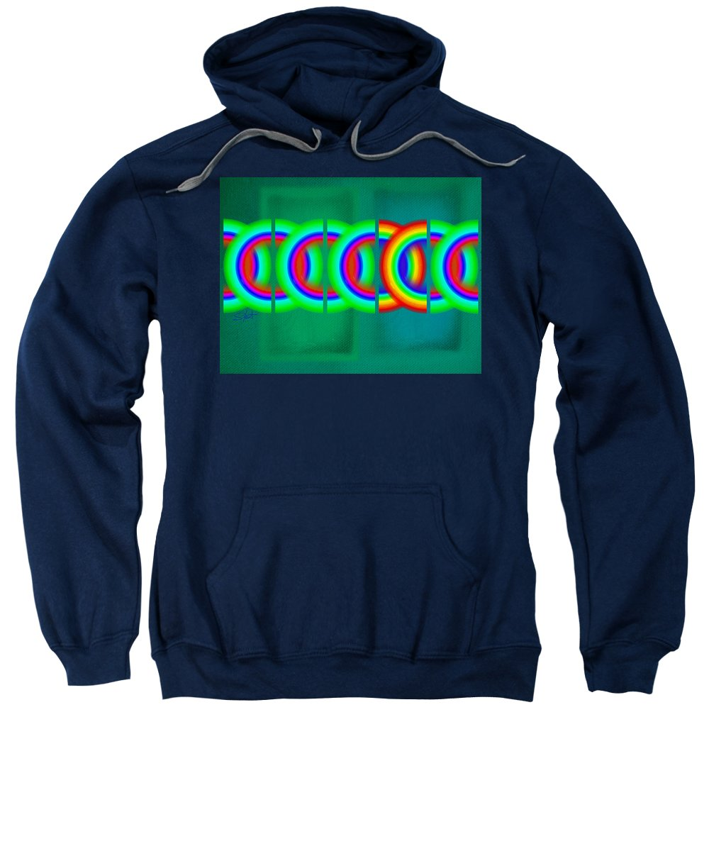 Abstract Sweatshirt featuring the painting Olympic Green by Charles Stuart