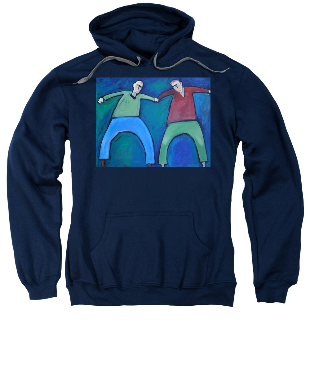 Men Sweatshirt featuring the painting On The Precipice by Tim Nyberg