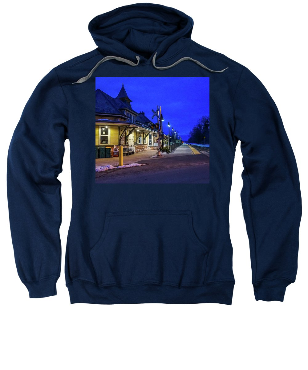 Sweatshirt featuring the photograph On Track by Kendall McKernon