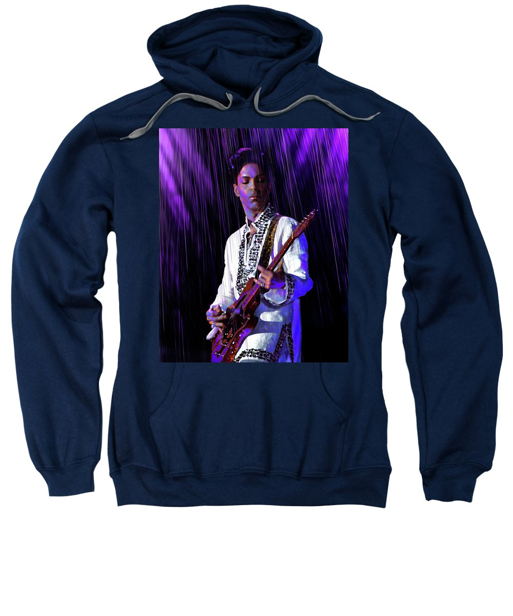Prince Rogers Nelson Sweatshirt featuring the digital art Only Want To See You by Mal Bray