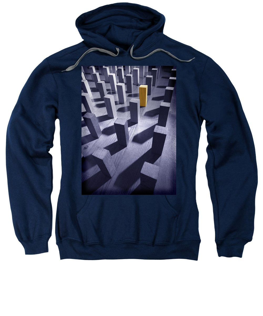 Original Sweatshirt featuring the photograph Original Unique Different Extrovert Individual Exceptional Singular Special by Mal Bray