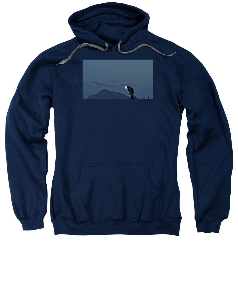 Osprey Sweatshirt featuring the photograph Osprey Moon by David Parsons
