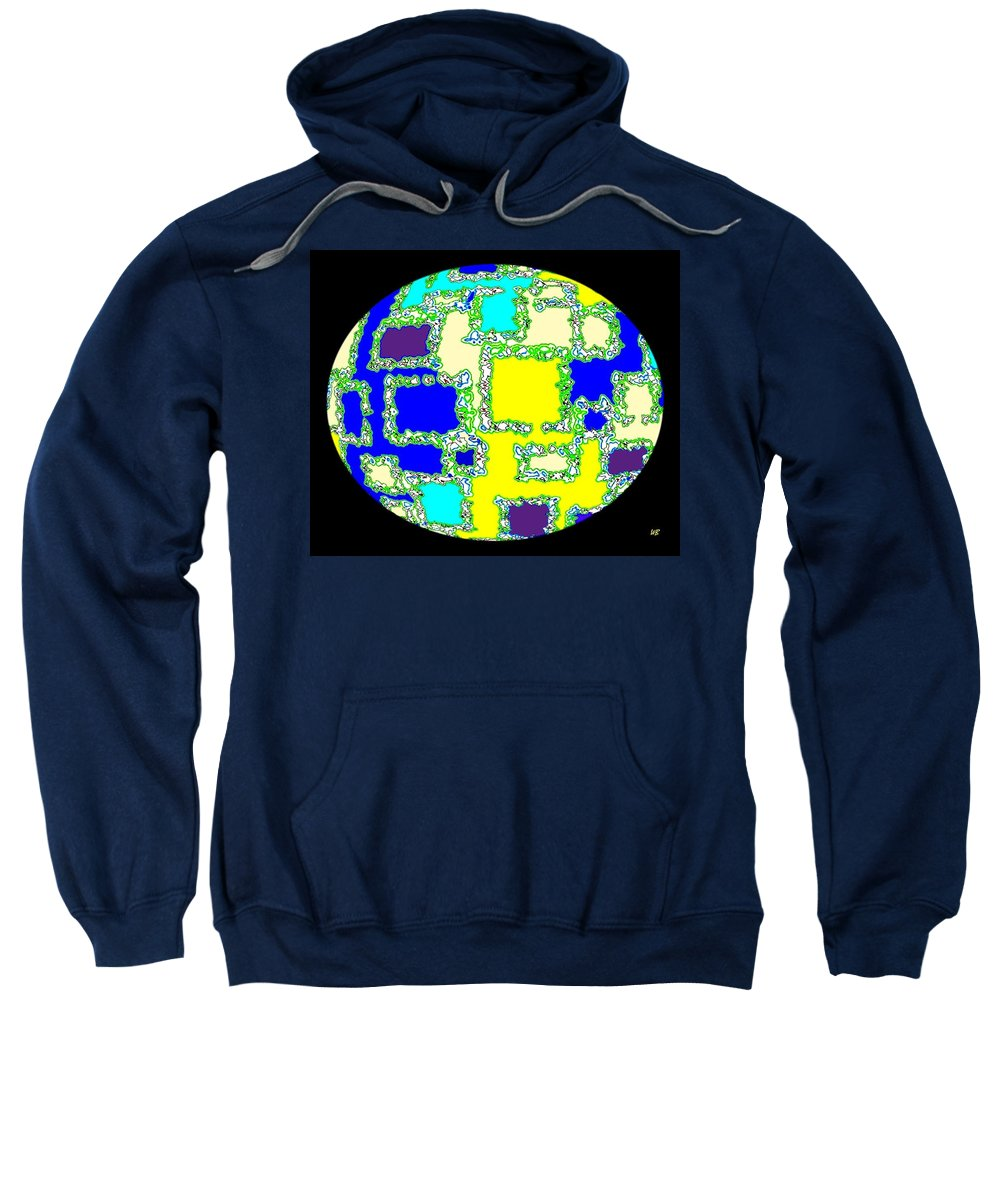 Abstract Sweatshirt featuring the digital art Ostrich Egg by Will Borden