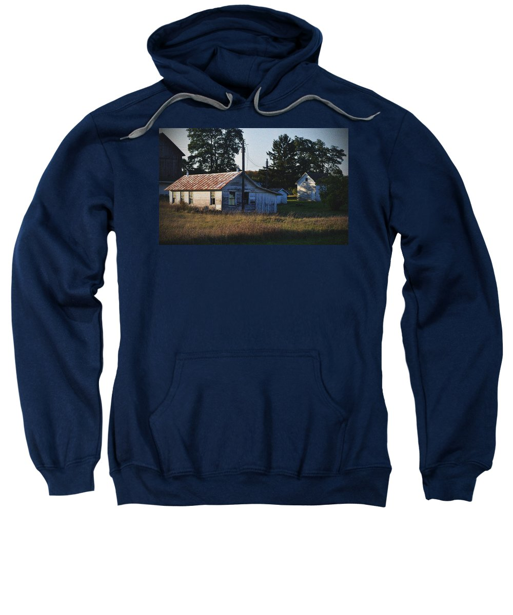 Barns Sweatshirt featuring the photograph Out Building by Tim Nyberg