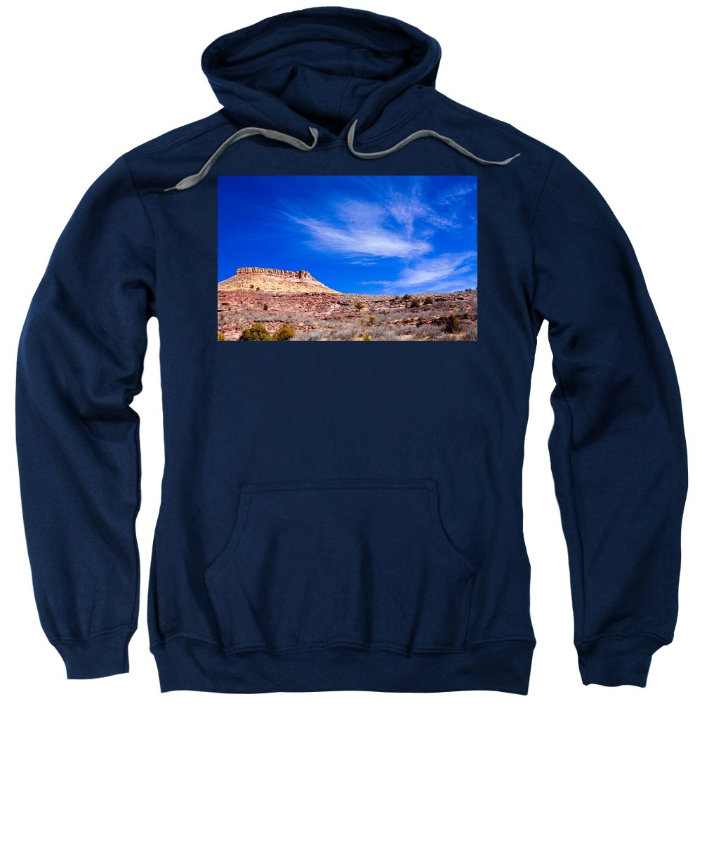 Red Sweatshirt featuring the photograph Outside Lyons Colorado by Marilyn Hunt