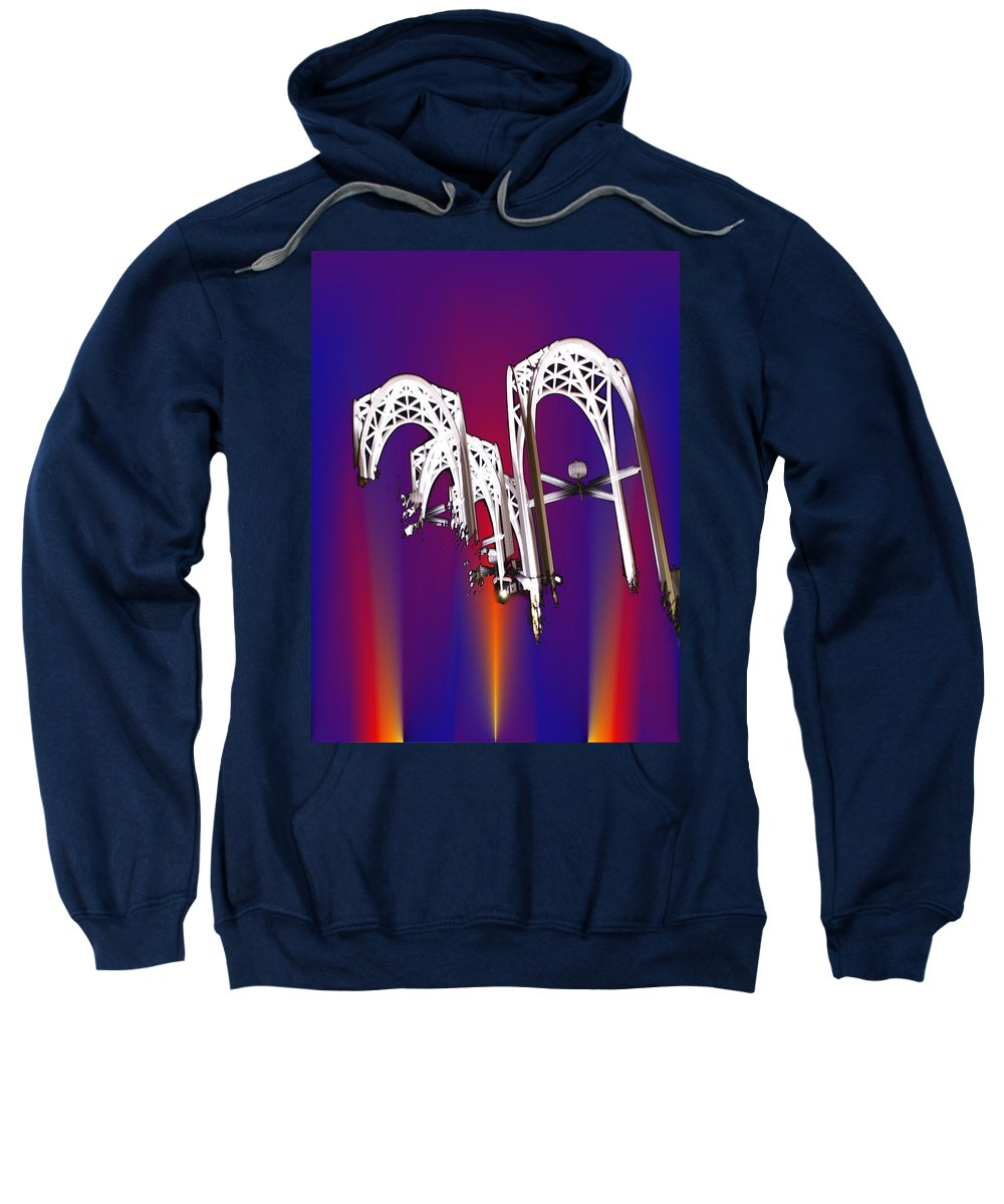 Seattle Sweatshirt featuring the photograph Pacific Science Center Arches 2 by Tim Allen