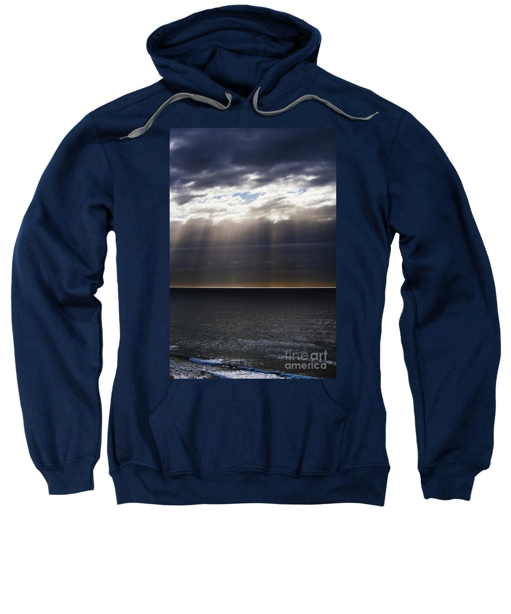 Sweatshirt featuring the photograph Pacific Storm by Sheila Smart Fine Art Photography