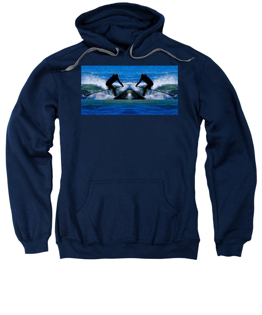 Paddle Boarding Sweatshirt featuring the photograph Paddleboarding X 2 by Betsy Knapp