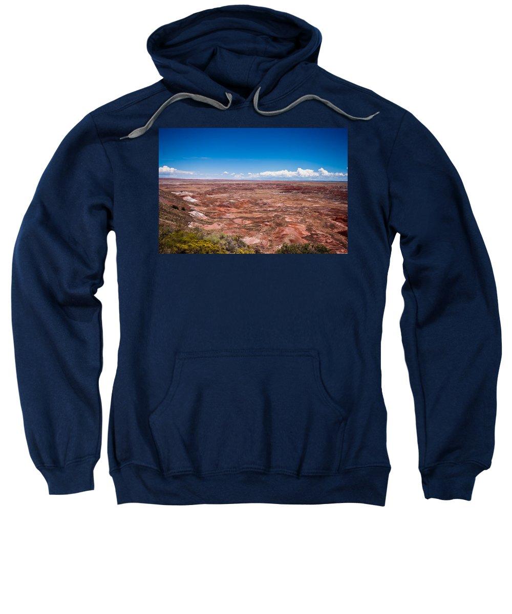 Painted Sweatshirt featuring the photograph Painted Desert #10 by Robert J Caputo