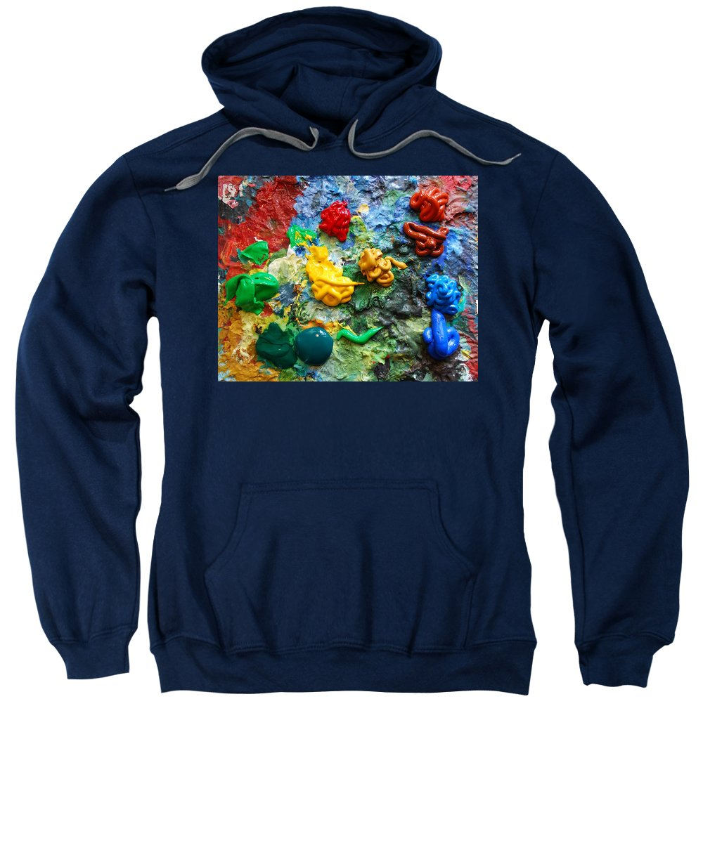 Palette Sweatshirt featuring the photograph Painters Palette by Nancy Mueller