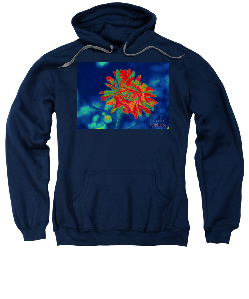 Flower Sweatshirt featuring the photograph Paisley Gerber by Donna Bentley