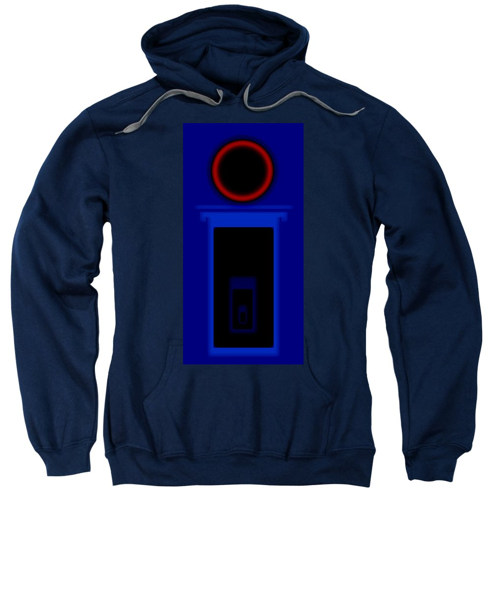 Palladian Sweatshirt featuring the painting Palladian Red And Blue by Charles Stuart