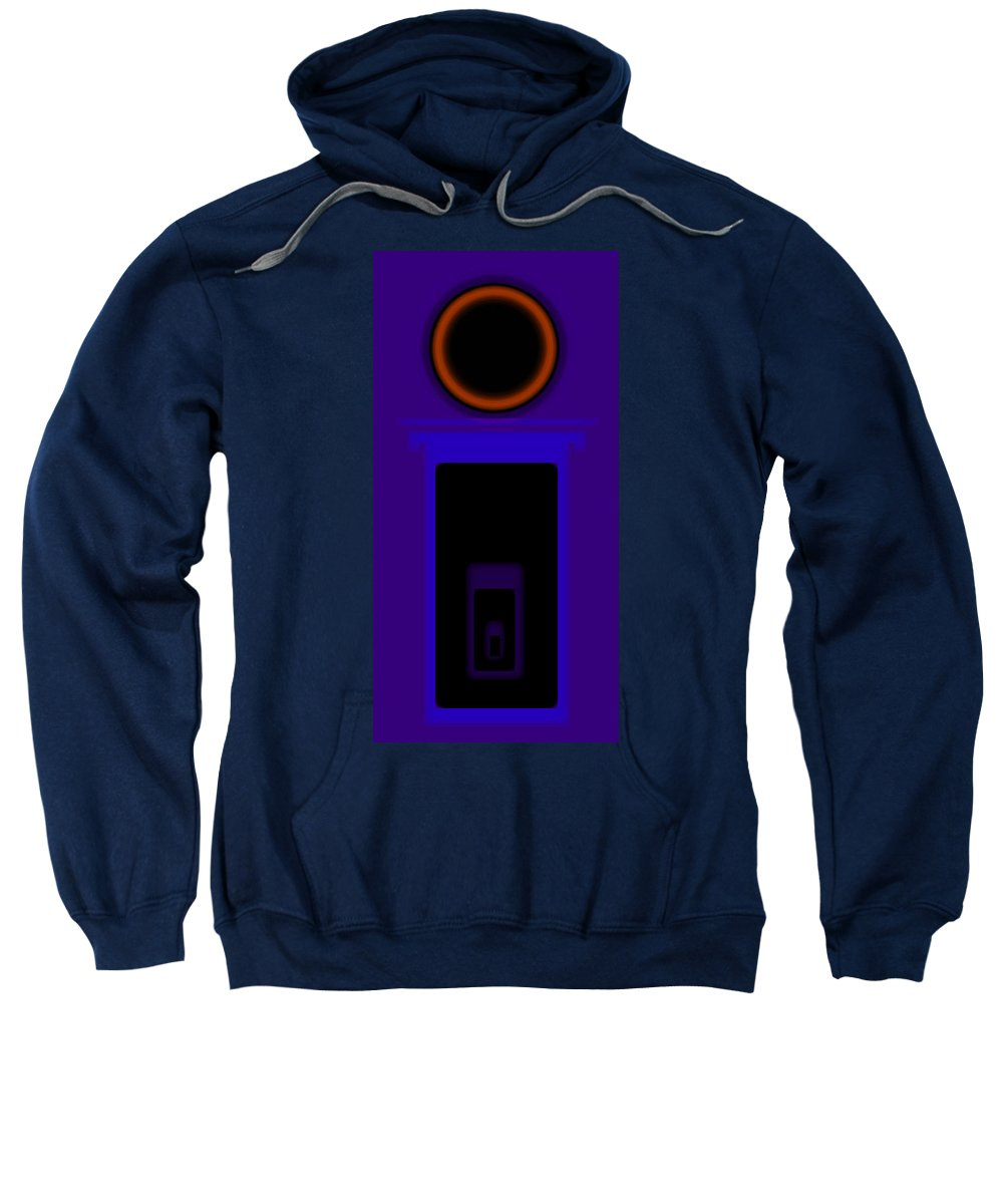 Palladian Sweatshirt featuring the painting Palladian Violet by Charles Stuart