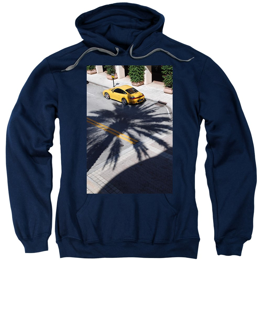 Porsche Sweatshirt featuring the photograph Palm Porsche by Rob Hans