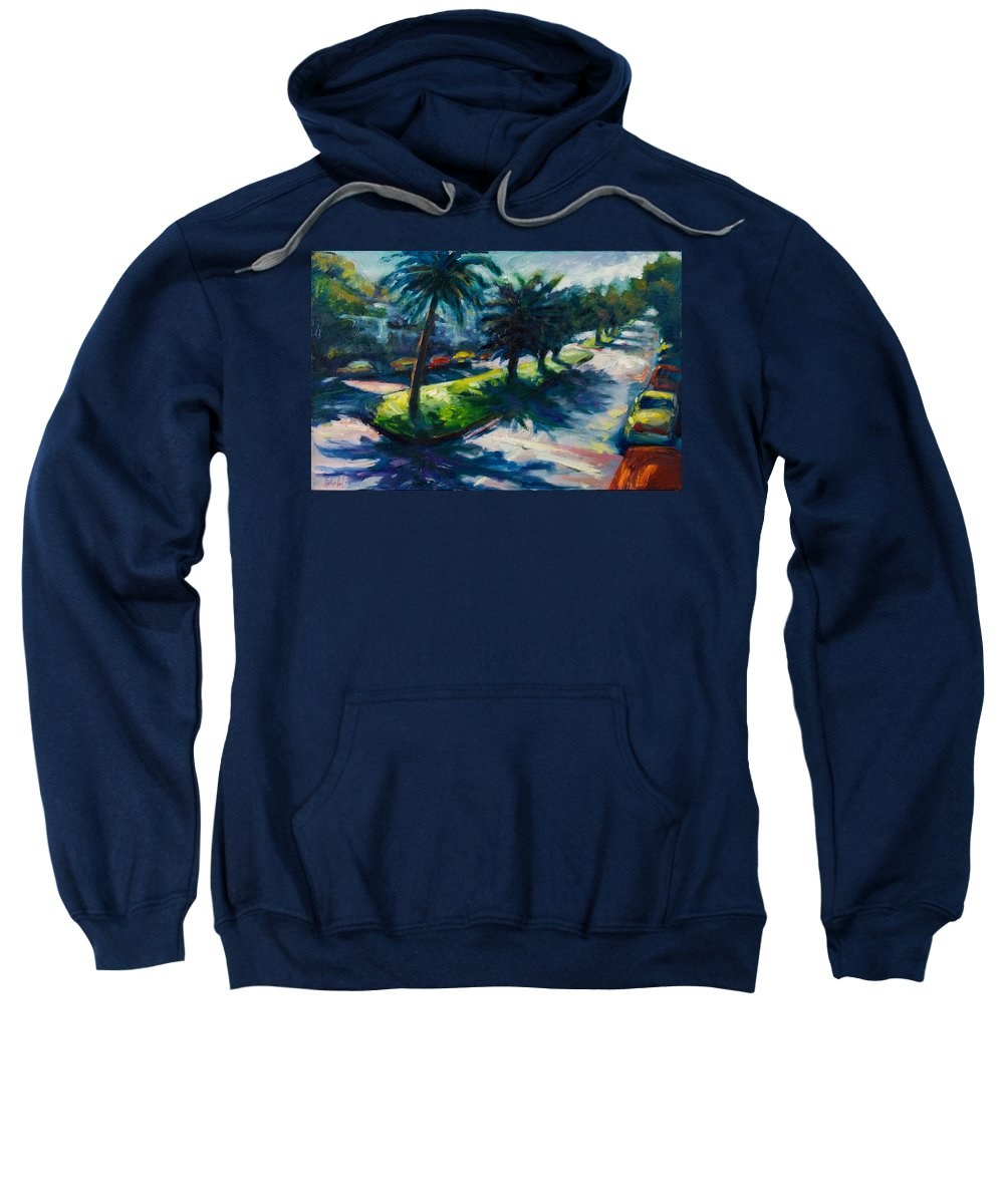 Cityscape Sweatshirt featuring the painting Palm Trees by Rick Nederlof
