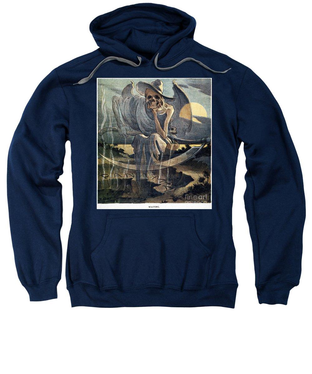 1904 Sweatshirt featuring the photograph Panama Canal Cartoon, 1904 by Granger