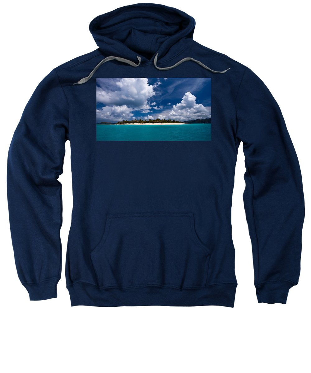 3scape Sweatshirt featuring the photograph Paradise Is Sandy Cay by Adam Romanowicz