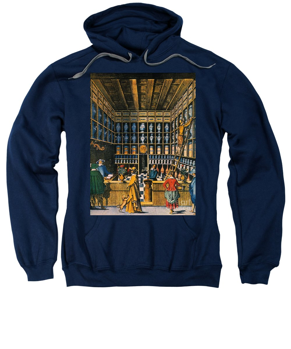 1624 Sweatshirt featuring the photograph Parisian Pharmacy, 1624 by Granger