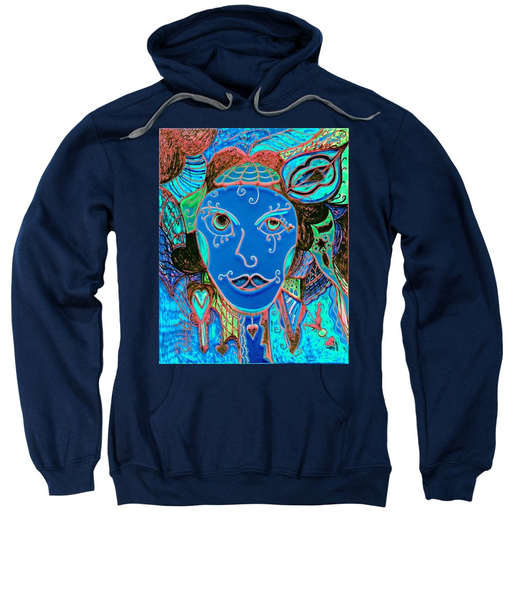 Party Girl Sweatshirt featuring the painting Party Girl by Natalie Holland