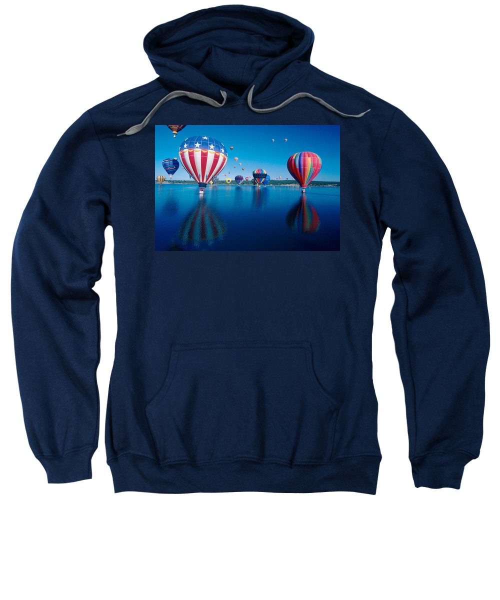 Hot Air Balloons Sweatshirt featuring the photograph Patriotic Hot Air Balloon by Jerry McElroy