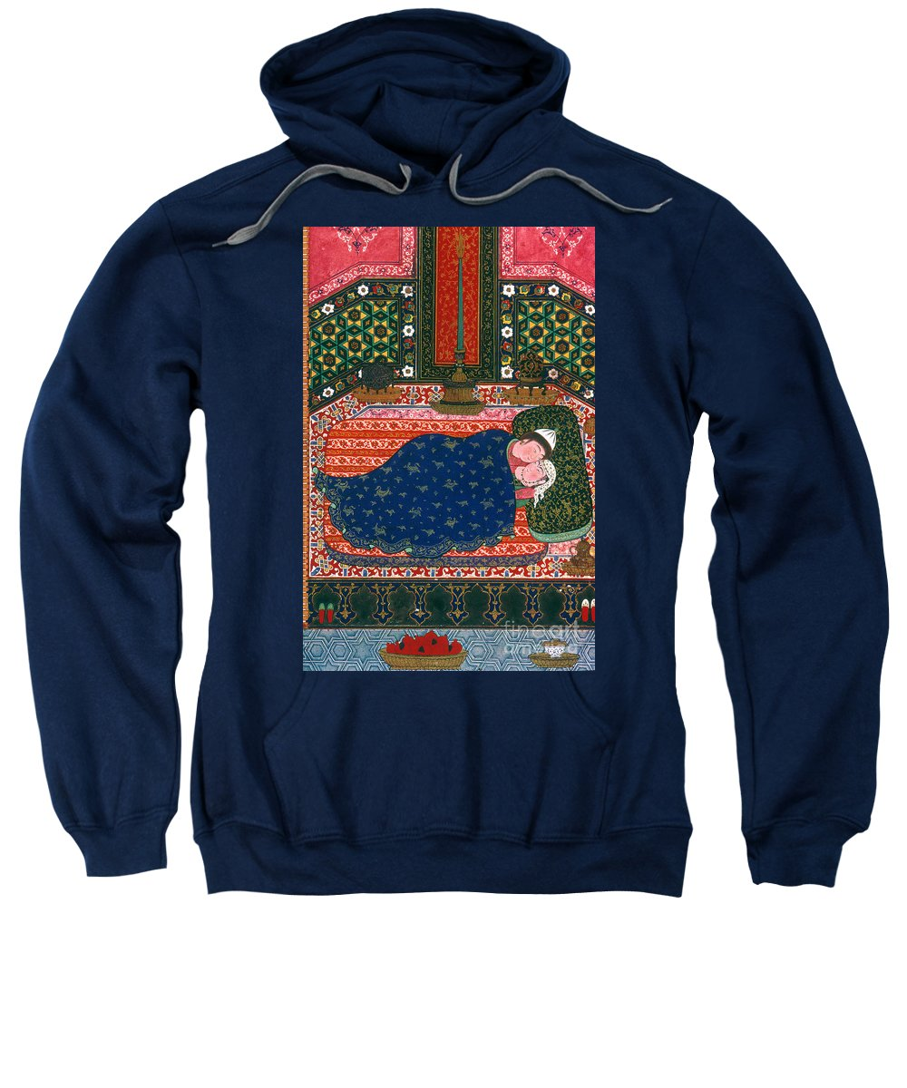 1520s Sweatshirt featuring the photograph Persia: Lovers, 1527-28 by Granger