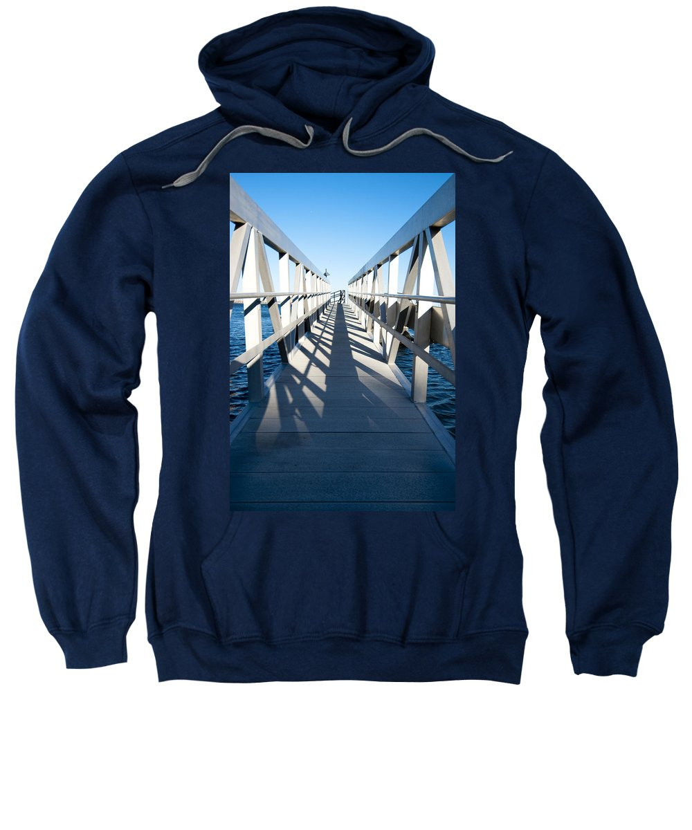 Dock Sweatshirt featuring the photograph Perspective Iv by Greg Fortier