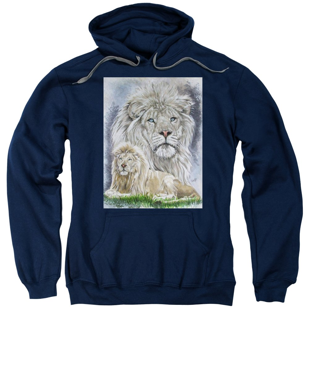 Art Sweatshirt featuring the mixed media Phantasy by Barbara Keith
