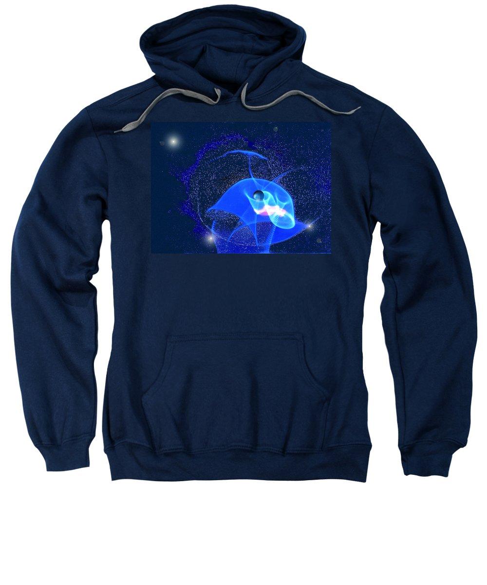 Space Sweatshirt featuring the digital art Phenomenon by Steve Karol
