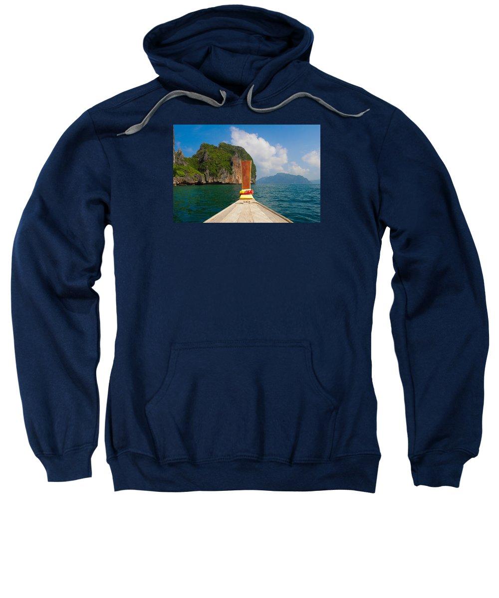 Travel Sweatshirt featuring the photograph Phi Phi Leh by Megan Martens