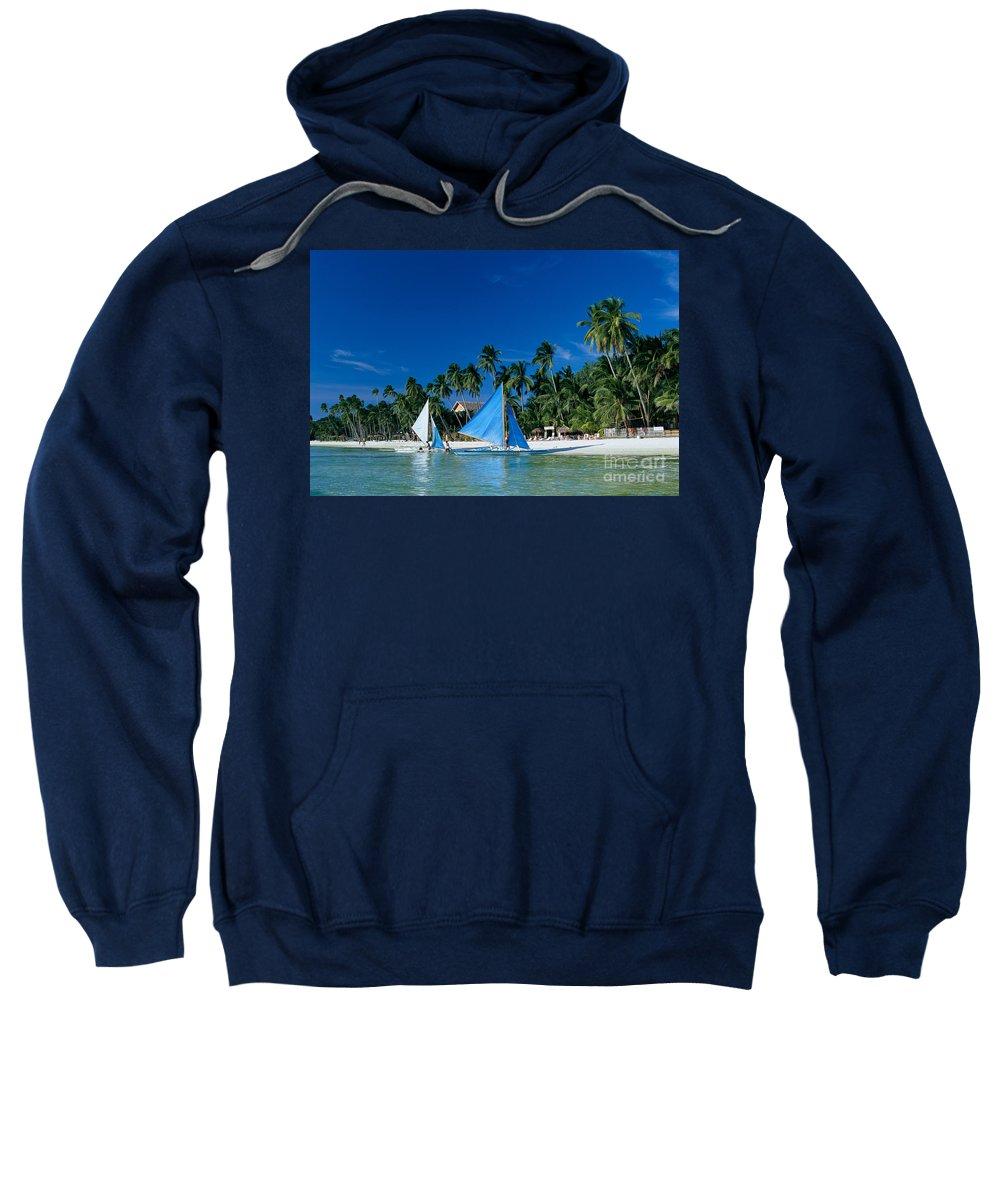 Anchor Sweatshirt featuring the photograph Philippines, Boracay Isla by Gloria & Richard Maschmeyer - Printscapes