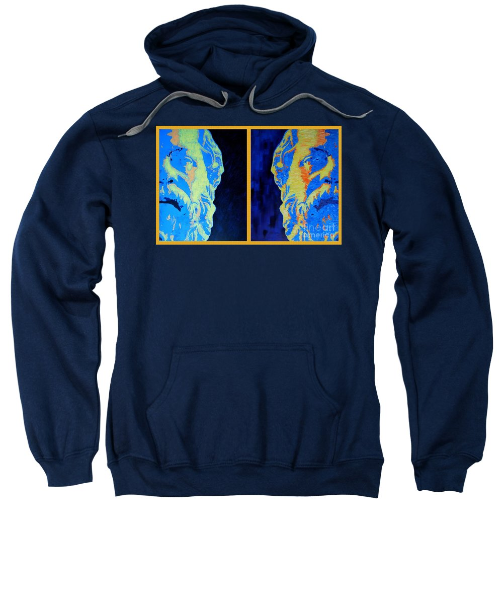 Socrates Sweatshirt featuring the painting Philosopher -socrates 1 by Ana Maria Edulescu