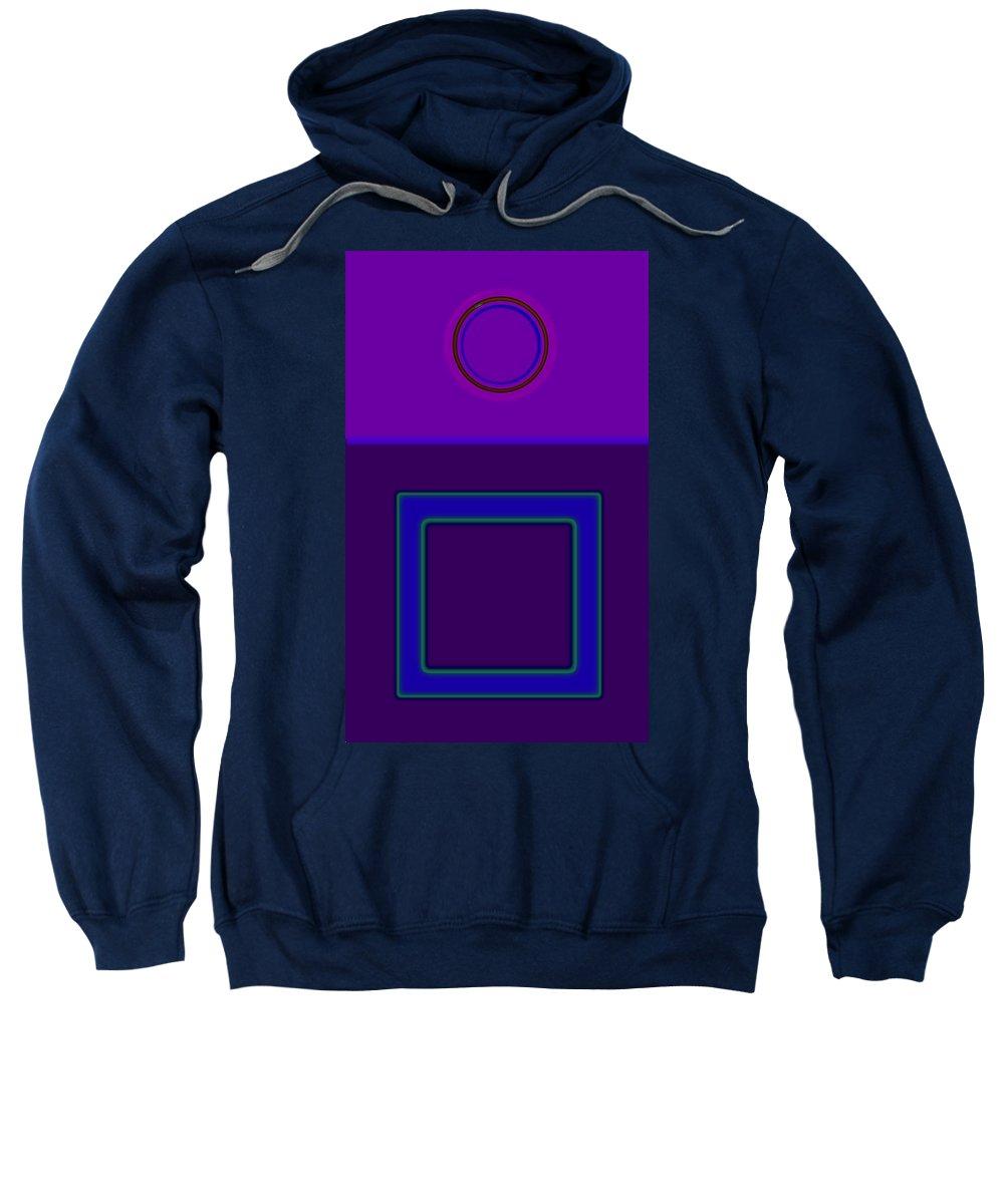 Classical Sweatshirt featuring the digital art Piazza Purple by Charles Stuart